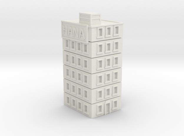 Hana Building in White Strong & Flexible