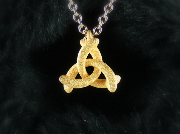 Pendant Trinity No.1 in Polished Gold Steel