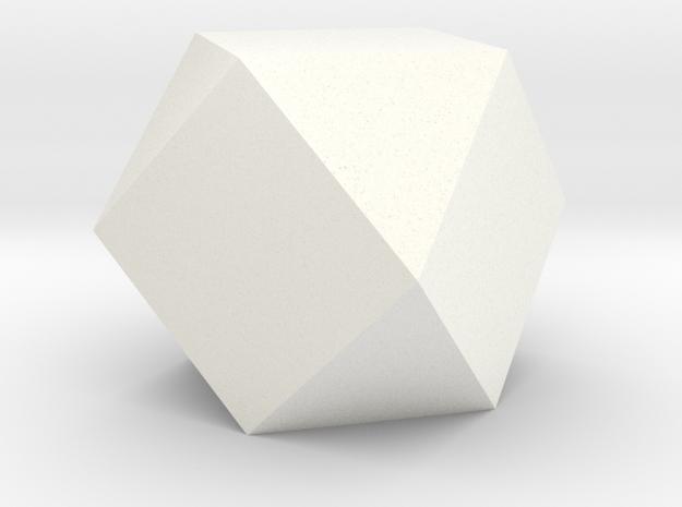 Cube Octahedron (Vector Equilibrium) in White Processed Versatile Plastic