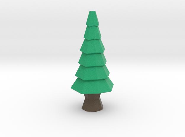 Low-Poly Tree [3.3 in] in Full Color Sandstone
