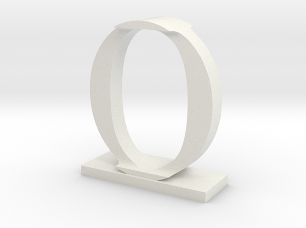 Two way letter / initial I&O in White Strong & Flexible