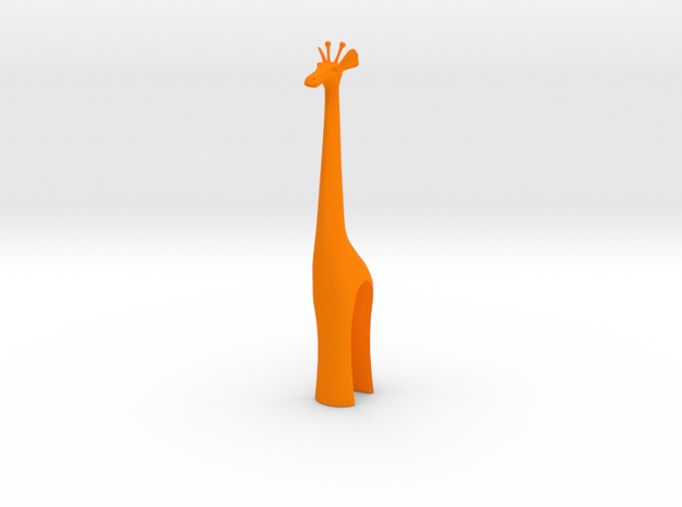 Giraffe in Orange Strong & Flexible Polished