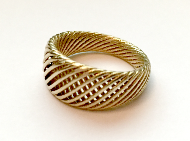 Twisted Ring - Size 8 in Natural Brass
