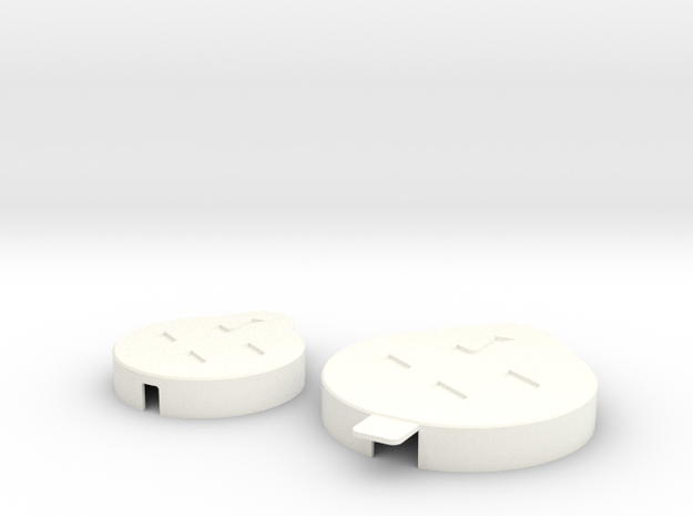 Accessory Caps Indent in White Strong & Flexible Polished