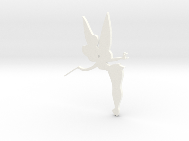 Tinkerbell Silhouette in White Processed Versatile Plastic