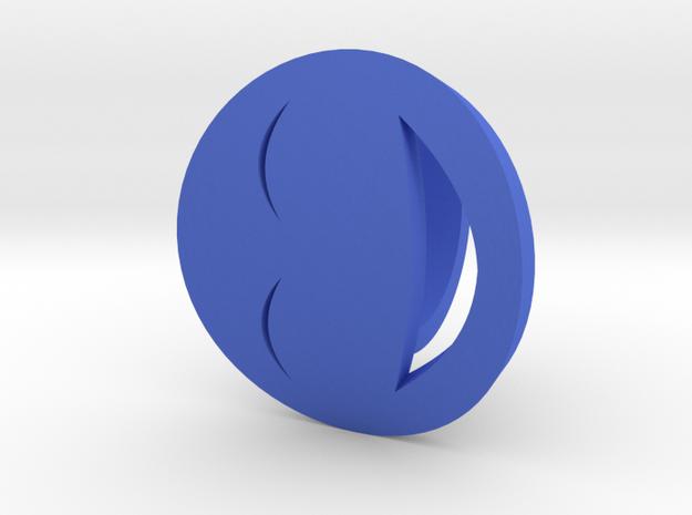Smile Ring Size 10, 19.8 mm in Blue Processed Versatile Plastic