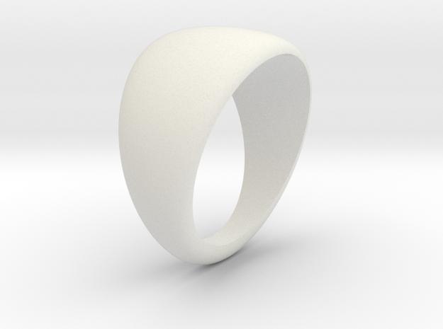 Simple ring in White Natural Versatile Plastic