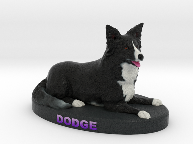 Custom Dog Figurine - Dodge in Full Color Sandstone
