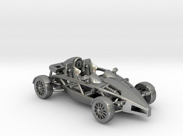 """Atom HO scale model w/o wings 1.6"""" RHD in Raw Silver"""