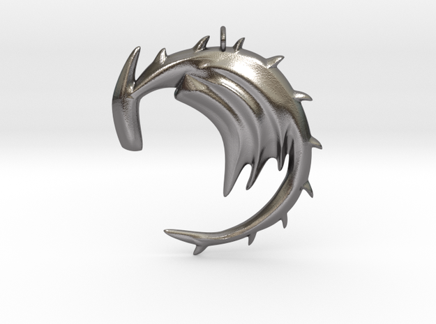 Dragon With No Fire Breath in Polished Nickel Steel