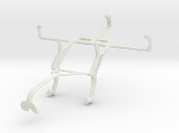 Controller mount for Xbox 360 & HTC Velocity 4G Vo in White Natural Versatile Plastic