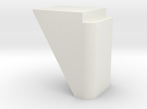 N Scale Bridge Abutment #2 in White Natural Versatile Plastic
