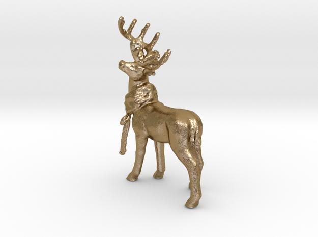 Dans Deer in Polished Gold Steel