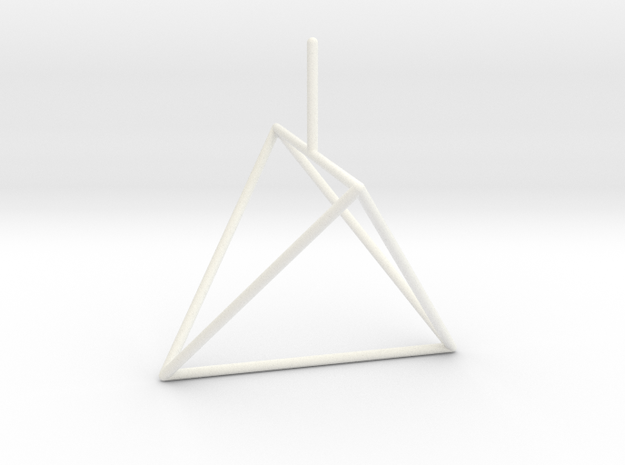 Wire Model for Soap: Tetrahedron in White Processed Versatile Plastic