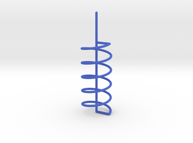 Helix Spiral For Soap Experiments in Blue Processed Versatile Plastic
