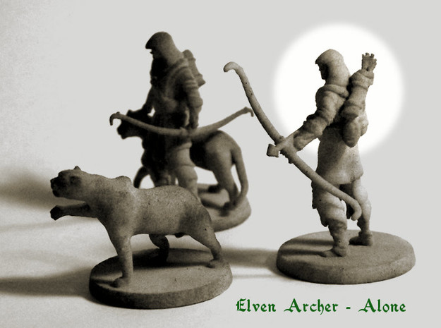 Elven Archer (alone) 3d printed