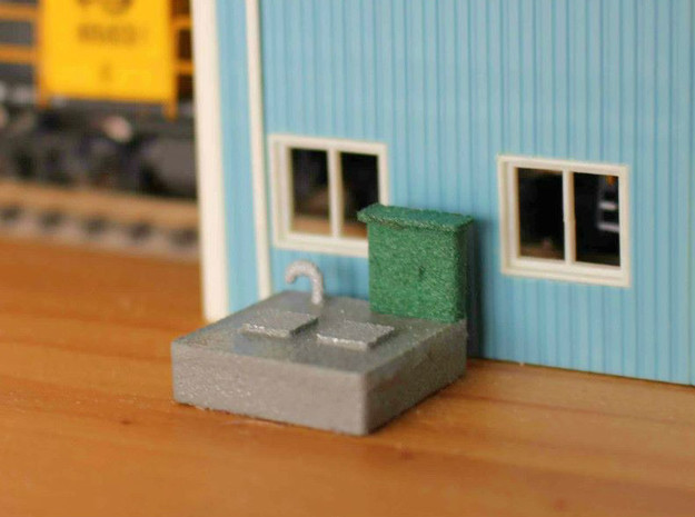 N scale Sewer Pumping Station in White Processed Versatile Plastic