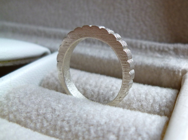 QQ Hair Ring 3d printed Silver