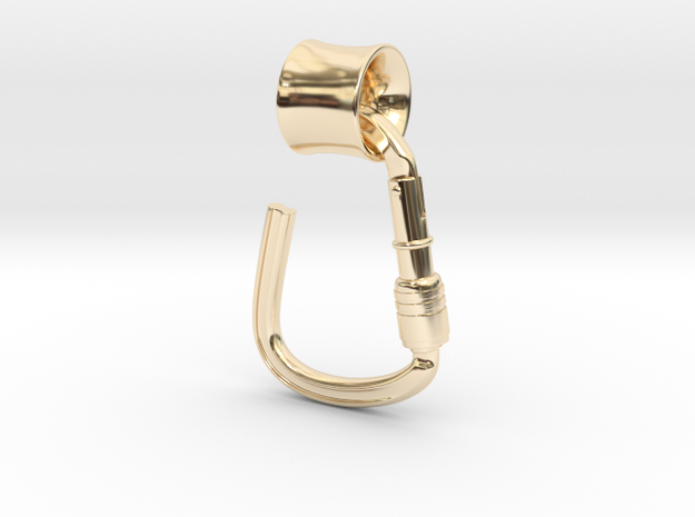 Tunnel 14mm karabiner in 14K Yellow Gold