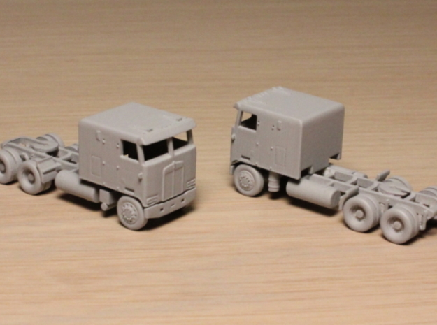 1:160 N Scale Kenworth K100 Tractor X2 in Smooth Fine Detail Plastic