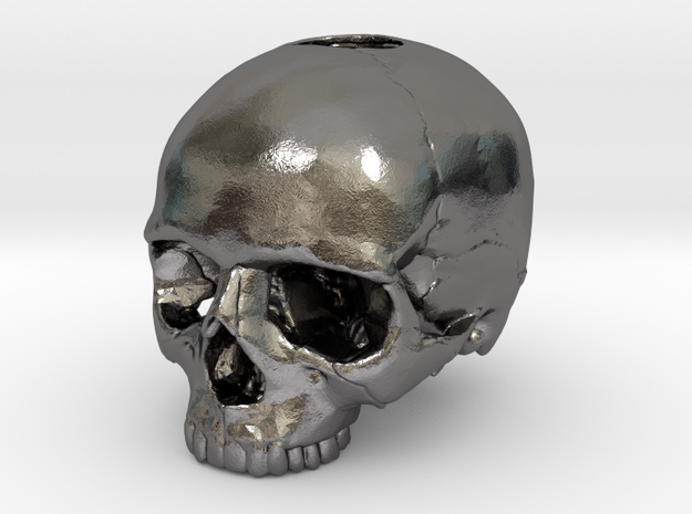 Skull in Polished Nickel Steel