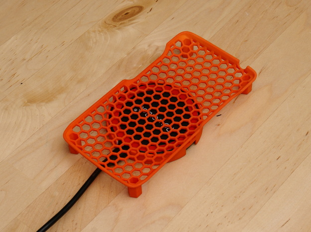 Motorola Droid Turbo - Wireless Qi Charge Cradle in Orange Processed Versatile Plastic