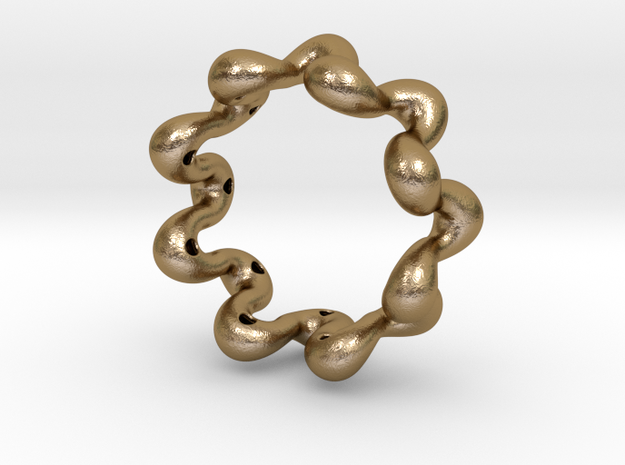 Wavy bracelet 70 in Polished Gold Steel