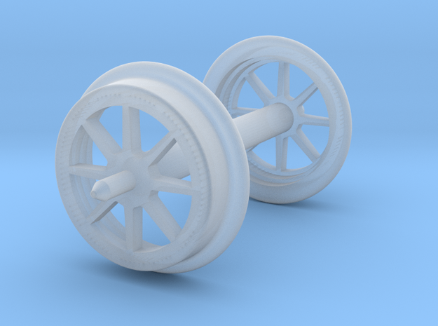 Old-timer gondola wheelset HO-OO scale  in Smooth Fine Detail Plastic