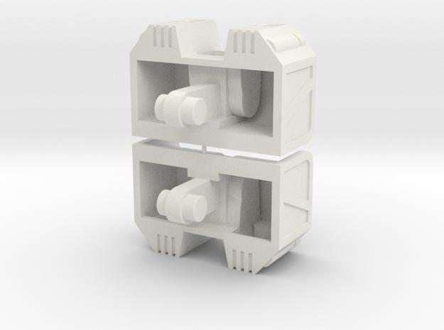 Cufflinx Rev1 in White Natural Versatile Plastic