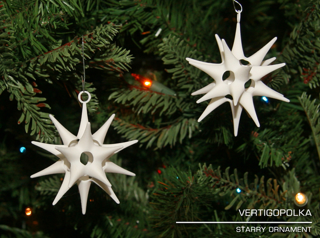 Starry Ornament in White Strong & Flexible