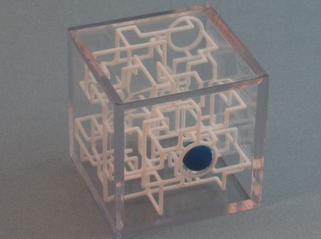 Bare Bones 6-Pack Pirate Maze Puzzle 3d printed Ball at the Treasure - X marks the Spot