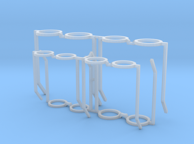 1:6 scale round glasses 6 sizes 3d printed
