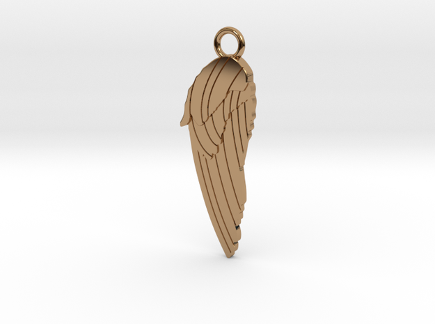Angel Wing WBail in Polished Brass