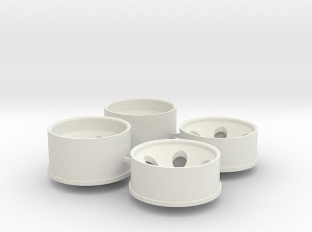 2.5 Offset in White Natural Versatile Plastic