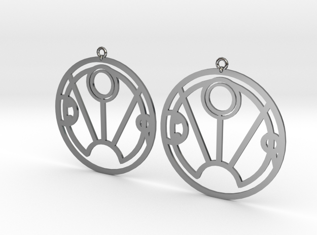 Sunny - Earrings - Series 1 in Fine Detail Polished Silver