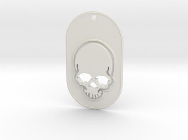 Skull mark in White Strong & Flexible
