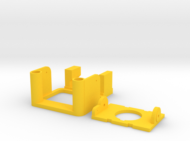 ZMR250 Tilt  with frame v2 in Yellow Processed Versatile Plastic