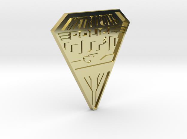 Replica Metropolis PD badge