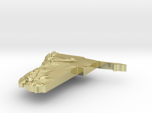 Namibia Terrain Silver Pendant 3d printed
