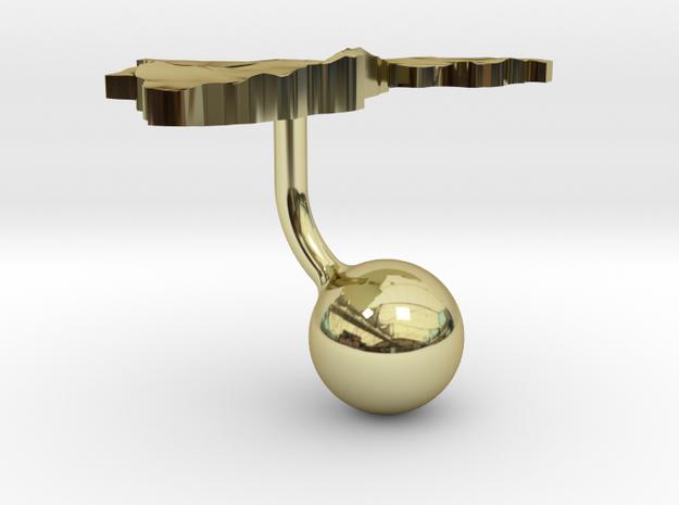 Brunei Darussalam Terrain Cufflink - Ball 3d printed