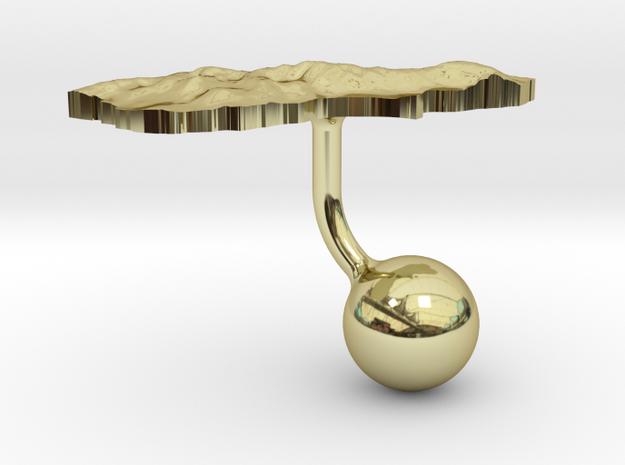 New Zealand South Island Terrain Cufflink - Ball 3d printed