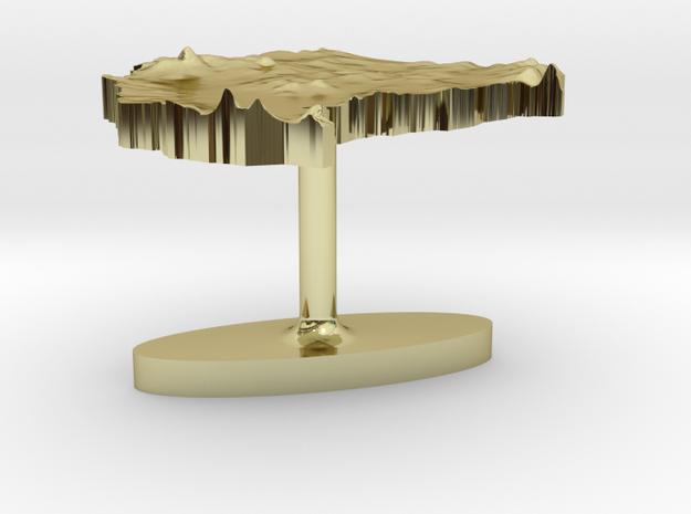 Sudan Terrain Cufflink - Flat 3d printed