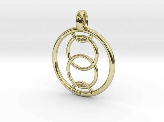Orthosie pendant in 18K Gold Plated
