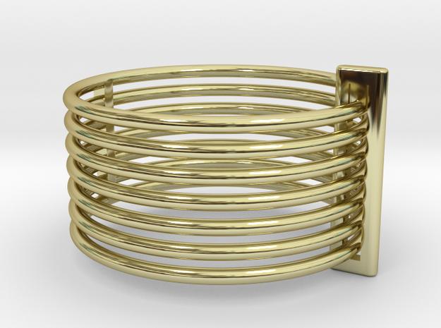 7-Band Ring (separable bands+retaining loop) 3d printed