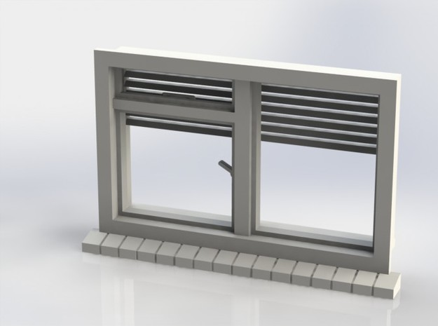 Window with horizontal shutters, scale 1 1:32 1:35 3d printed