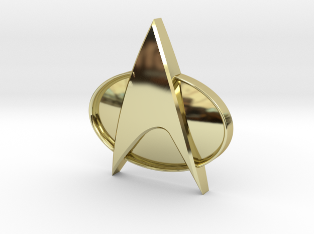 TNG Badge 4 Scaled 3d printed