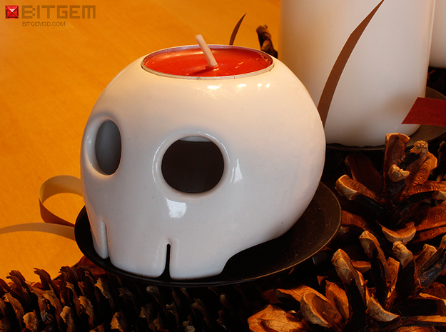 Toon Skull Tea Light Holder