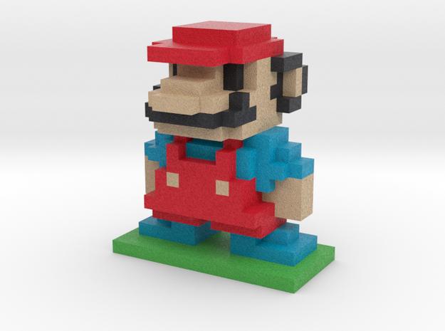 8Bit Mario Large in Full Color Sandstone