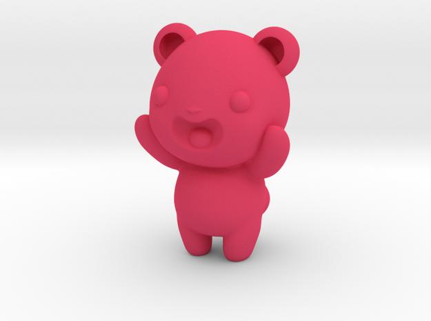 "3"" Gummy bear in Pink Processed Versatile Plastic"