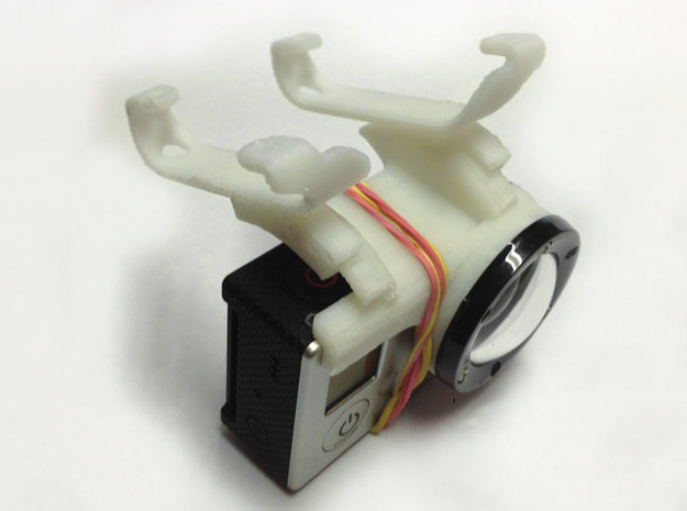 GoPro-Hero3 mount for arDrone2 in White Natural Versatile Plastic